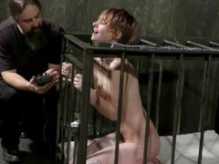 Mercy West Shocked In the Cage - see more at meetbdsm69.com
