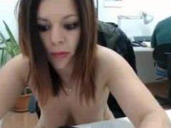 Brunette MILF Get Naked In The Office