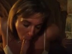 Sexy milf works for facial
