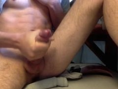 Nice body with Hard cock squirts nice load