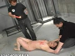 Asian bitch has a waxing and spanking bdsm session