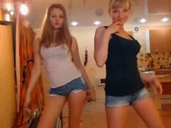 (NN) Two Blonde Teens Dance and Show Off Sexy Bodies