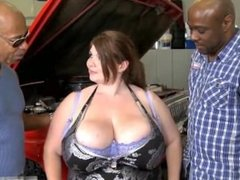 Lexxxi Luxe gets plowed by 2 BBC