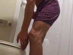 Hung 18 Roommate Hidden Camera Piss 3
