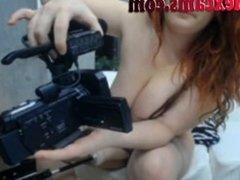 Big Boobed Webcam Girl Fucking Machine