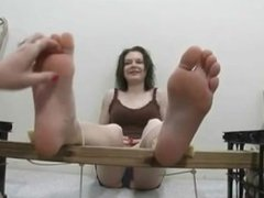 two girls foottickling part 1