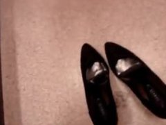 Mysterious Woman Pees in Shoes in the Changing Room