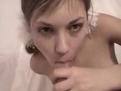 Russian blowjob with great cumshot. Jeni from dates25.com