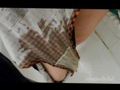 Pissing in Cute Plaid Panties