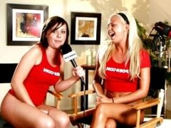Shows Huge Tits During Interview