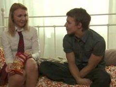 Russian schoolgirl wanted to get her ass fucked