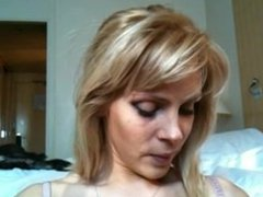 Blonde Russian Gets Fucked, Gives Head, Then Takes A Huge Load
