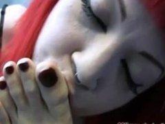 Lesbian Sleep feet fetish