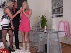 Horny daughter brutal gangbang