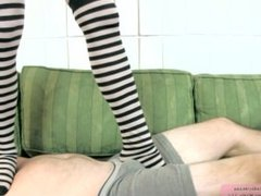Trampling in stockings
