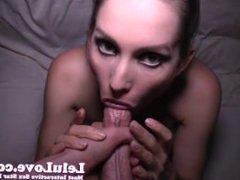 Lelu Love-Goth Girl With Hand Fetish Blowjob Facial