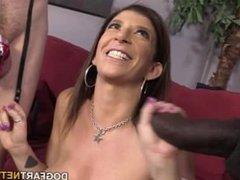 Sara Jay Fucks A Black Cock In Font Of Her Cuck-boy