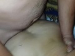 Drunk wife sucks stranger while another stranger fucks her bareback