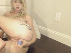 Blonde Babe Baby Blue Dildo Pussy Pleasuring (720p)