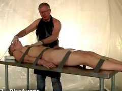 Gay men crossdressing videos Strapped down and at the mercy of his daddy,