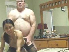 Lorilee from dates25.com - Chubby old guy fucks his asian slu