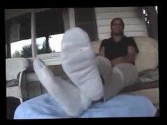 Ebony feet smelling