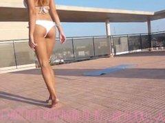 Blonde Latina Sexy Feet & Legs & Toes 2