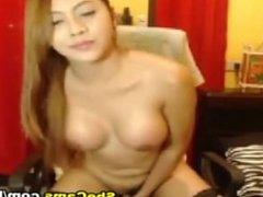 Sweet Asian Shemale Anal Masturbation