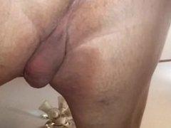 Cucumber in husbands ass 2