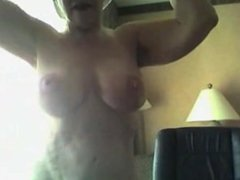 Nannette from dates25.com - Big tit mature on webcam