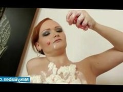 Redhead babe whip cream on tits an. Tyesha from dates25.com