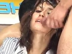 Maria Ozawa - Newsreader Covered In Cum & Fucked while Reading The News