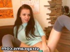 Super cutie teen in blue panties