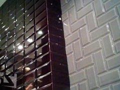 Girls go pee in a public wc 46