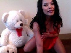 Veronika LIVE on 720cams.com - Sexy brunette playing teddy bear o
