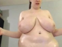 This BBW has a nice set of boobs on her!