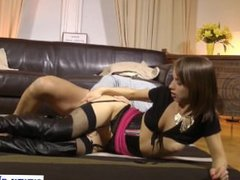 Young amateur in lingerie pussyfucked by old guy