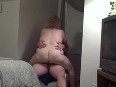 My bbw wife fucking me on a chair . Jennefer from dates25.com