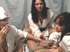 Smoking Fetish: Three Nurses Smoking Handjob