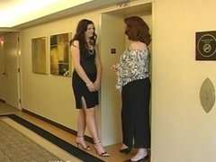 """6'7"""" Amazon Aly Poses with her Mother"""