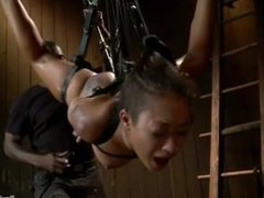 Skin Diamond tied bondage