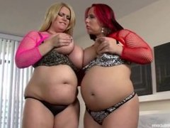 Two BBW Lesbians fuck each other with Toys