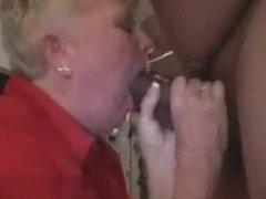 Fat Granny Sucking A Big Black Cock - New GF from MATURE-FUCKS.COM