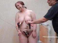 Brutal bbw bdsm and tool tortures of fat slaveslut punished to tears