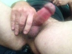 Cumming with dildo in my ass