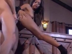 Black woman loves big white cock