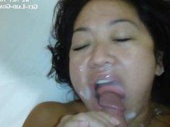 Face Full o' Cum - Asian Amateur Girl