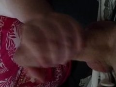 Wife sucking dick and cant swallow all