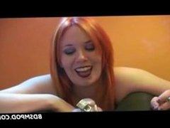 Femdom redhead smoking over a cock. Megan from dates25.com