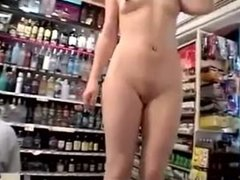 Redhead nude in the store. Ivonne from dates25.com